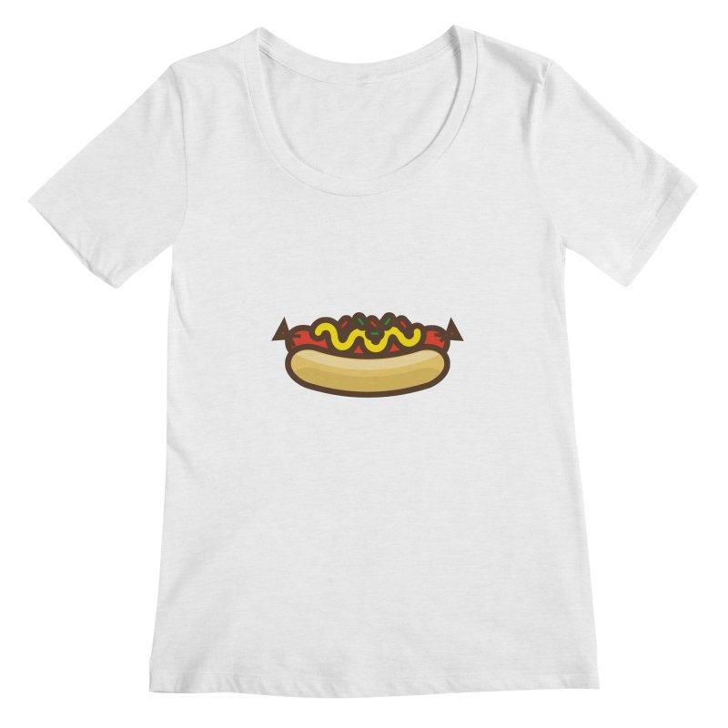 Summer Hotdog Women's Regular Scoop Neck by libedlulo