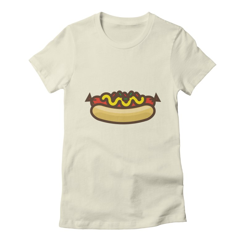 Summer Hotdog Women's Fitted T-Shirt by libedlulo
