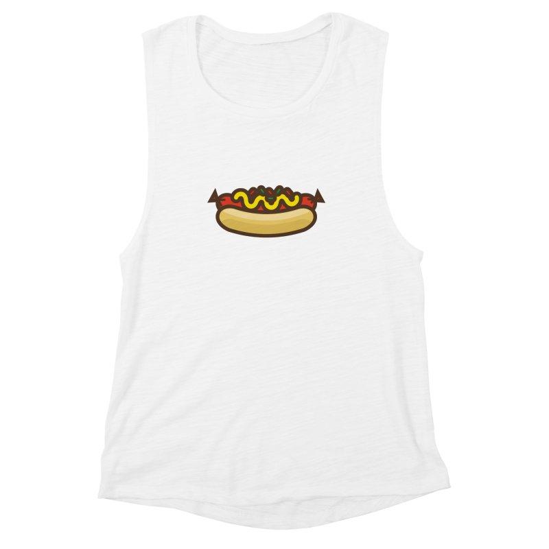 Summer Hotdog Women's Muscle Tank by libedlulo
