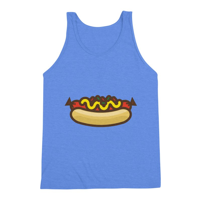 Summer Hotdog Men's Triblend Tank by libedlulo