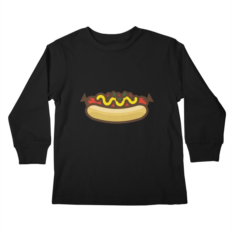 Summer Hotdog Kids Longsleeve T-Shirt by libedlulo