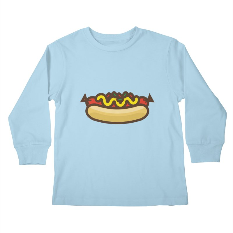 Summer Hotdog Kids Longsleeve T-Shirt by libedlulo