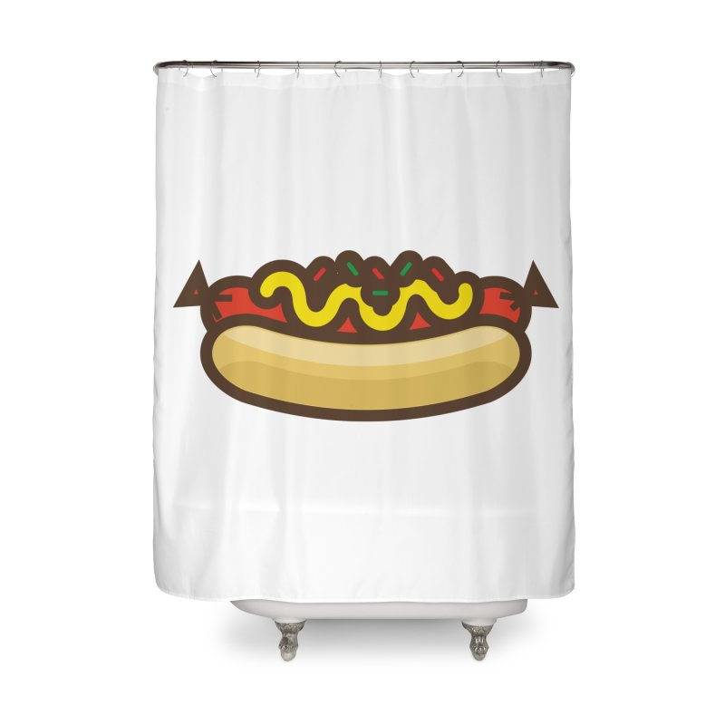 Summer Hotdog Home Shower Curtain by libedlulo