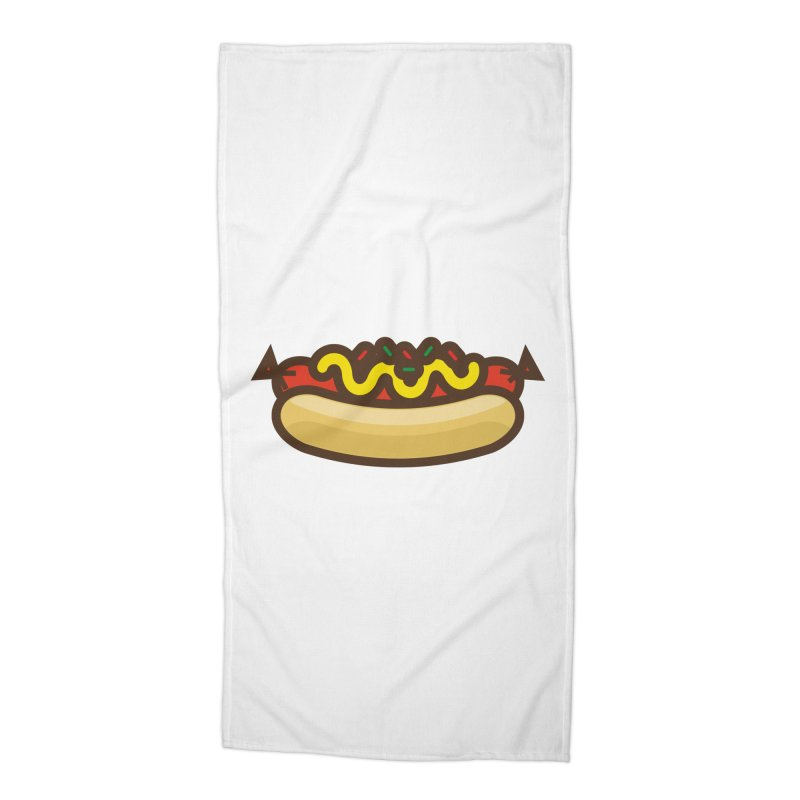 Summer Hotdog Accessories Beach Towel by libedlulo
