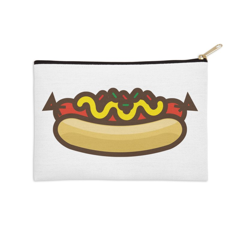 Summer Hotdog Accessories Zip Pouch by libedlulo