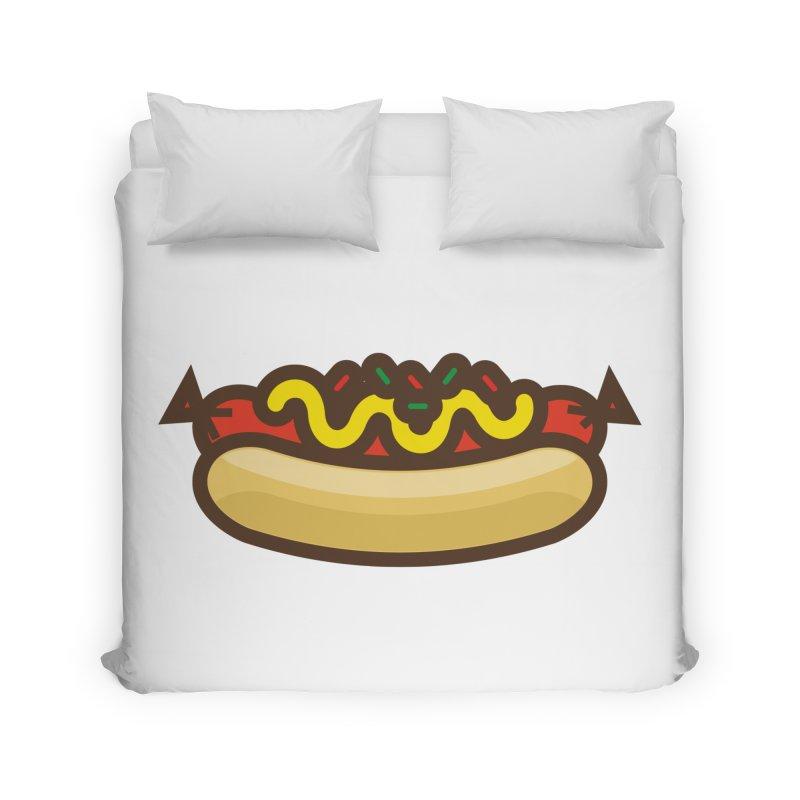 Summer Hotdog Home Duvet by libedlulo