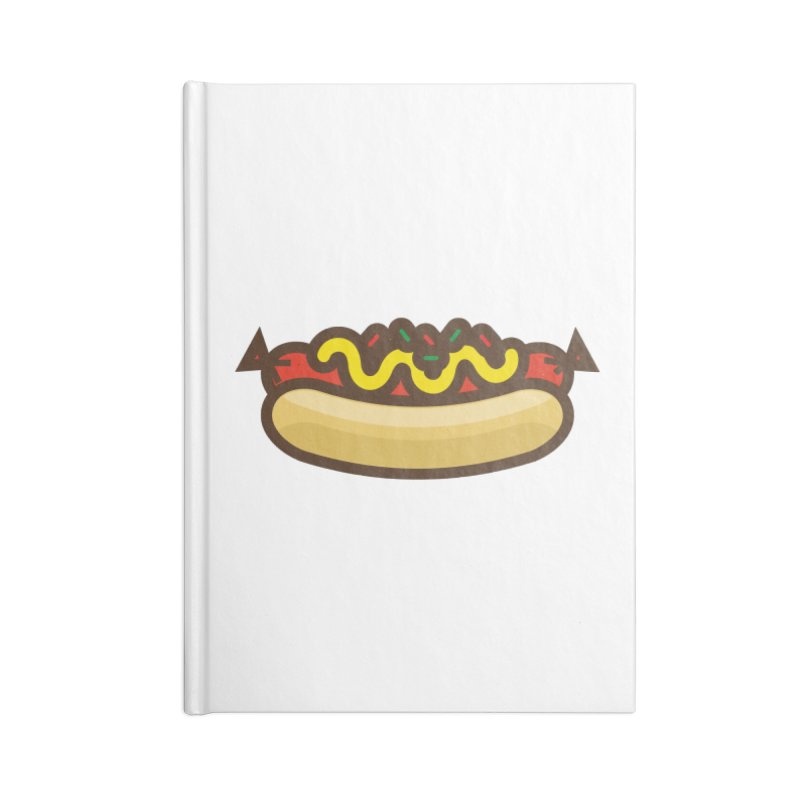 Summer Hotdog Accessories Lined Journal Notebook by libedlulo