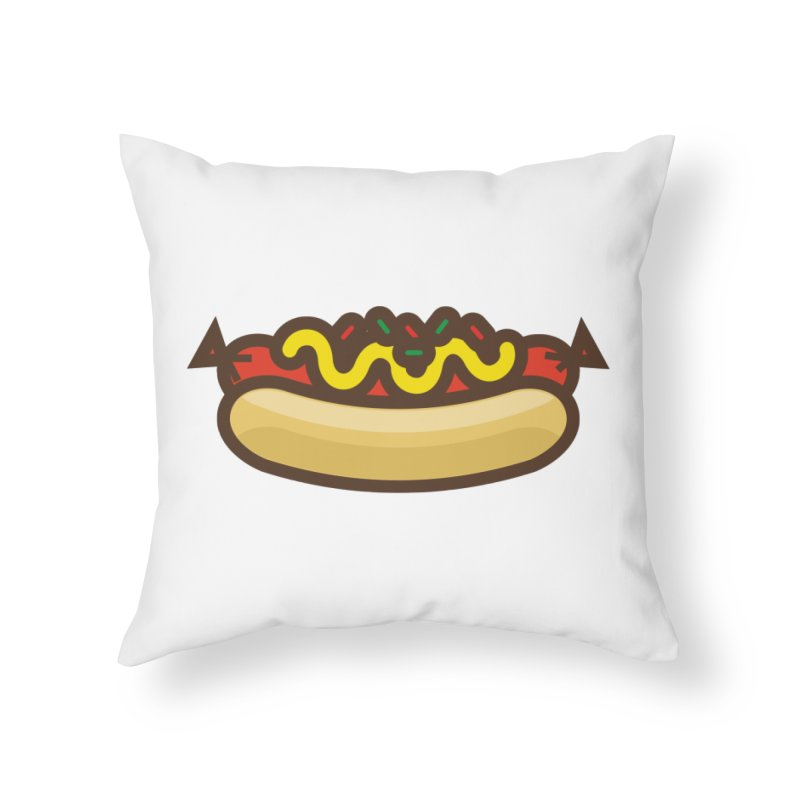 Summer Hotdog Home Throw Pillow by libedlulo