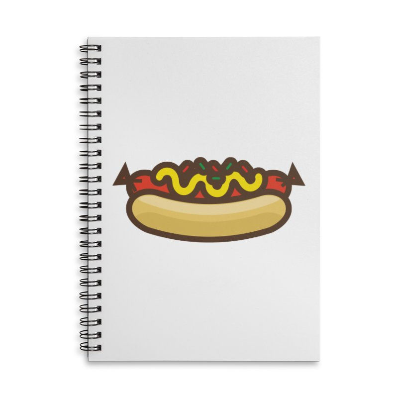Summer Hotdog Accessories Lined Spiral Notebook by libedlulo