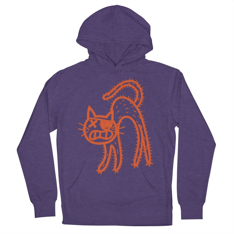 Pirate Cat Men's French Terry Pullover Hoody by libedlulo