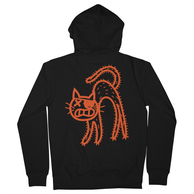 Pirate Cat Women's French Terry Zip-Up Hoody by libedlulo