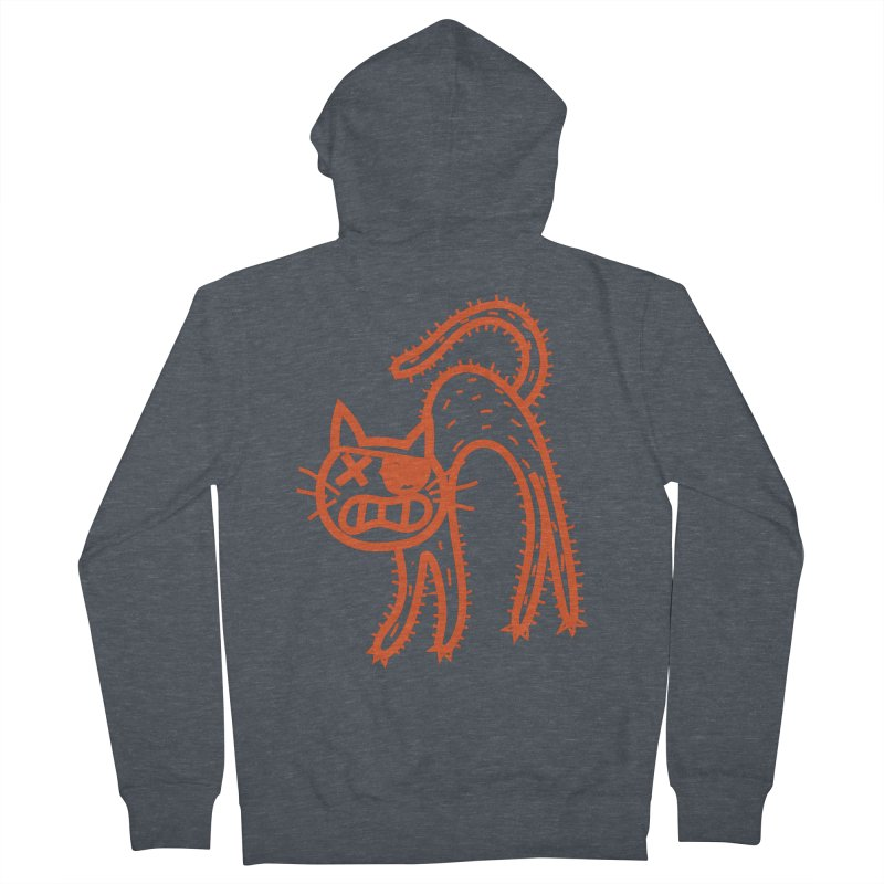 Pirate Cat Men's French Terry Zip-Up Hoody by libedlulo