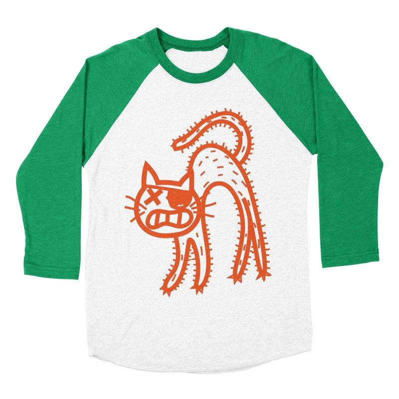Pirate Cat Men's Baseball Triblend Longsleeve T-Shirt by libedlulo