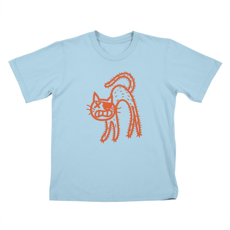 Pirate Cat Kids T-Shirt by libedlulo