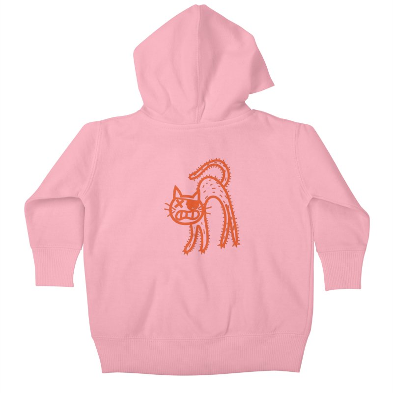 Pirate Cat Kids Baby Zip-Up Hoody by libedlulo