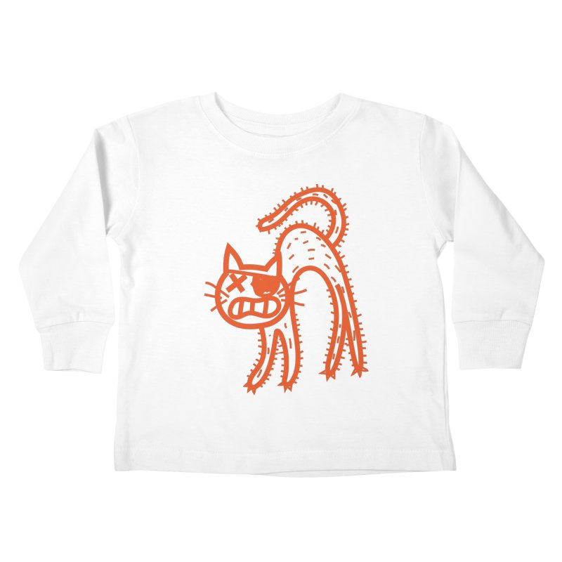 Pirate Cat Kids Toddler Longsleeve T-Shirt by libedlulo