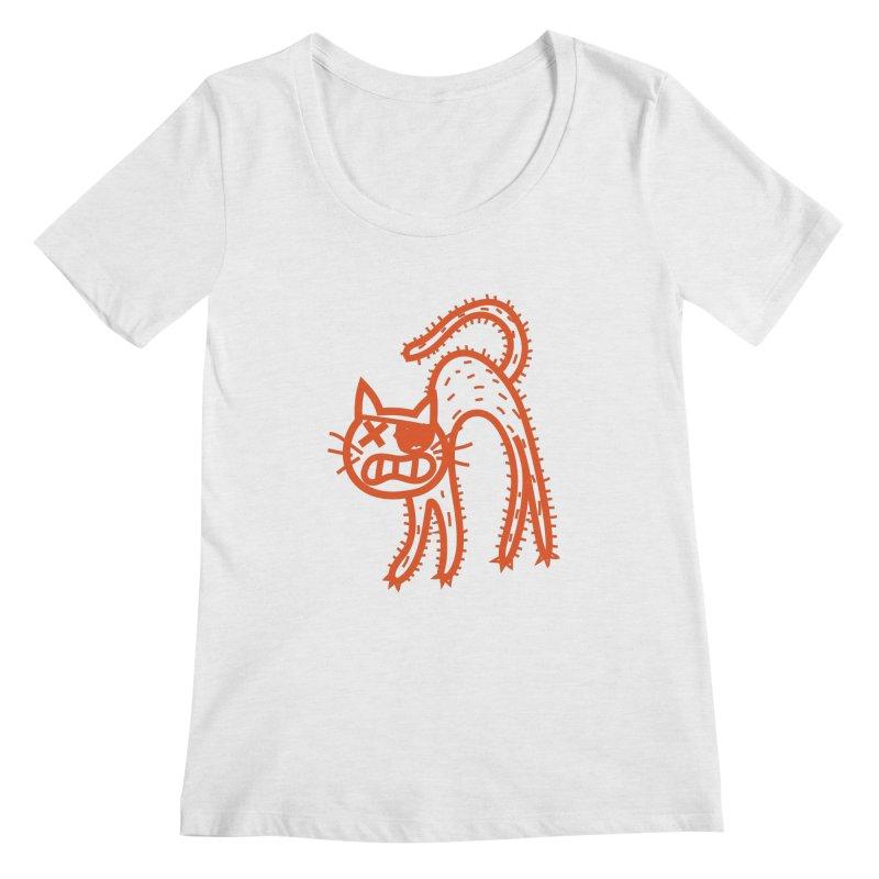Pirate Cat Women's Regular Scoop Neck by libedlulo