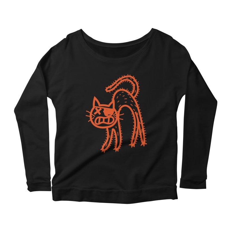 Pirate Cat Women's Scoop Neck Longsleeve T-Shirt by libedlulo