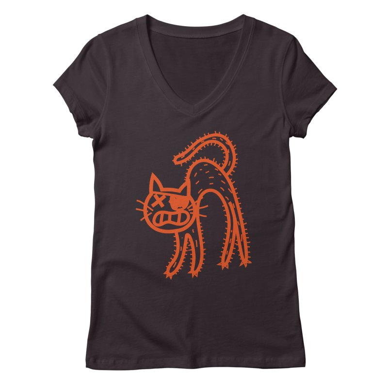Pirate Cat Women's Regular V-Neck by libedlulo
