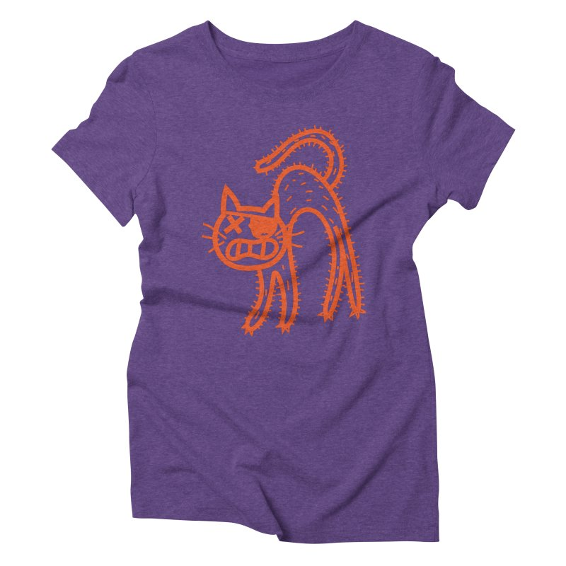 Pirate Cat Women's Triblend T-Shirt by libedlulo