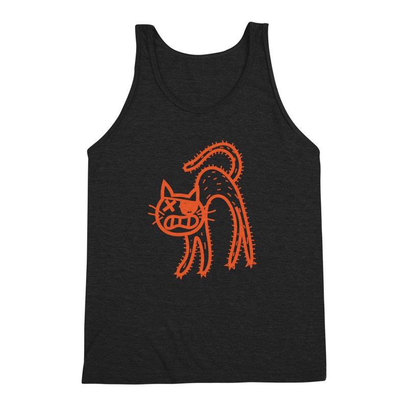 Pirate Cat Men's Triblend Tank by libedlulo