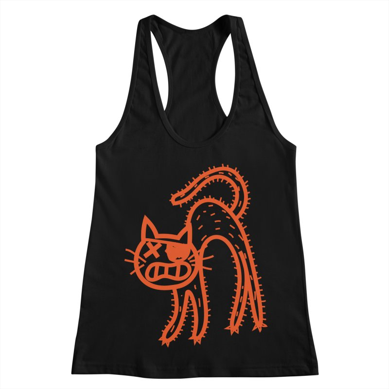 Pirate Cat Women's Racerback Tank by libedlulo