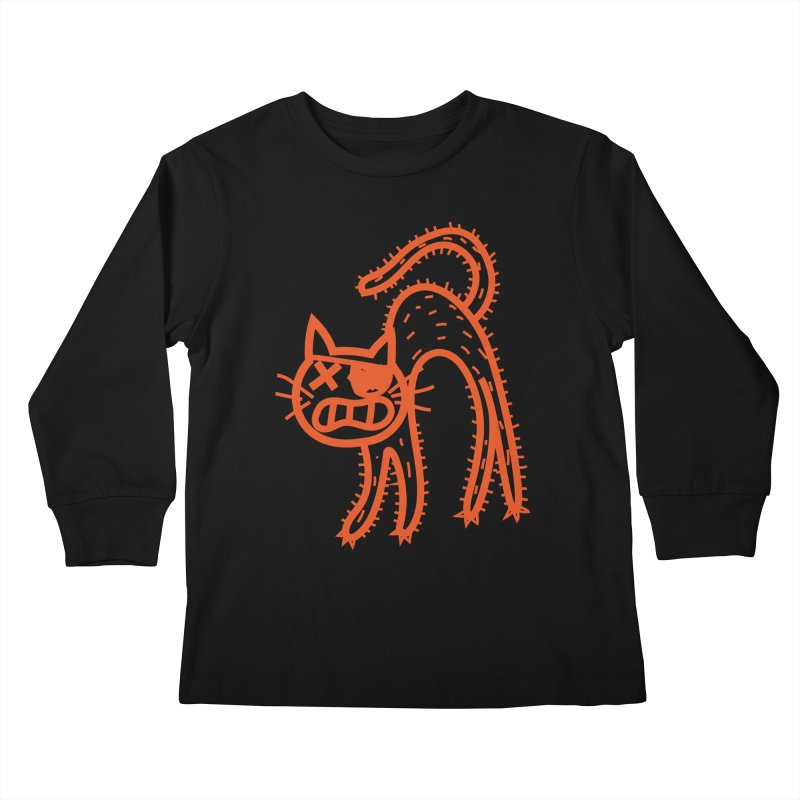 Pirate Cat Kids Longsleeve T-Shirt by libedlulo