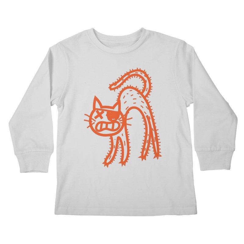 Pirate Cat Kids Longsleeve T-Shirt by libedlulo