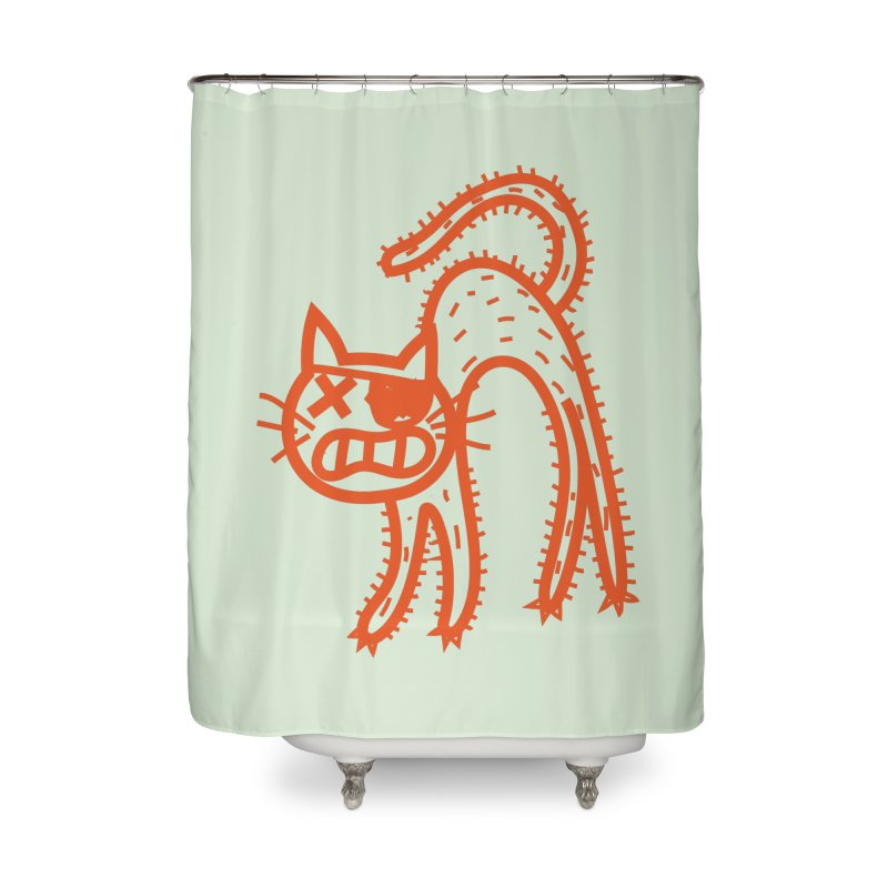 Pirate Cat Home Shower Curtain by libedlulo