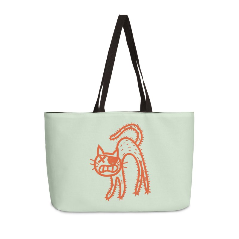 Pirate Cat Accessories Weekender Bag Bag by libedlulo