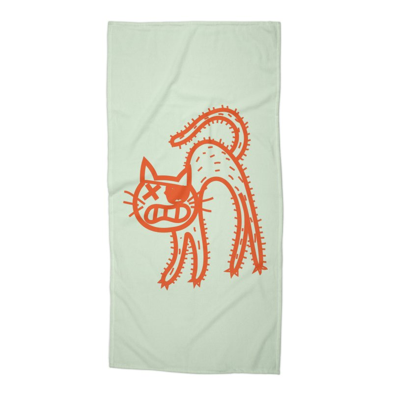 Pirate Cat Accessories Beach Towel by libedlulo
