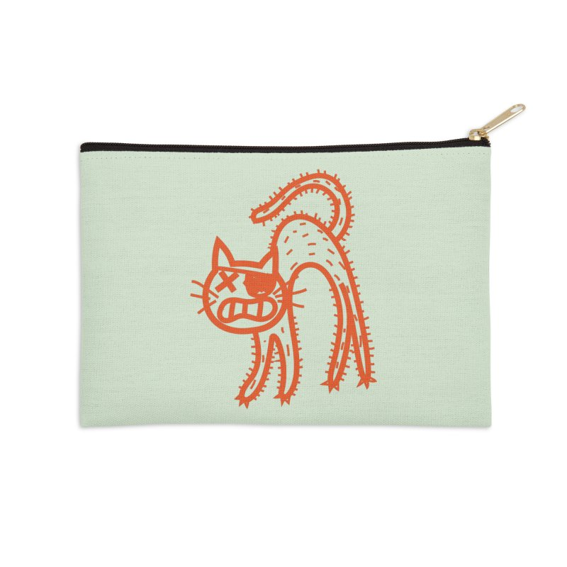Pirate Cat Accessories Zip Pouch by libedlulo