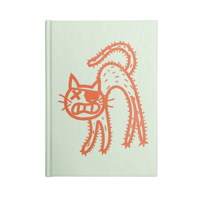 Pirate Cat Accessories Lined Journal Notebook by libedlulo
