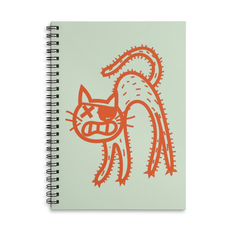 Pirate Cat Accessories Lined Spiral Notebook by libedlulo