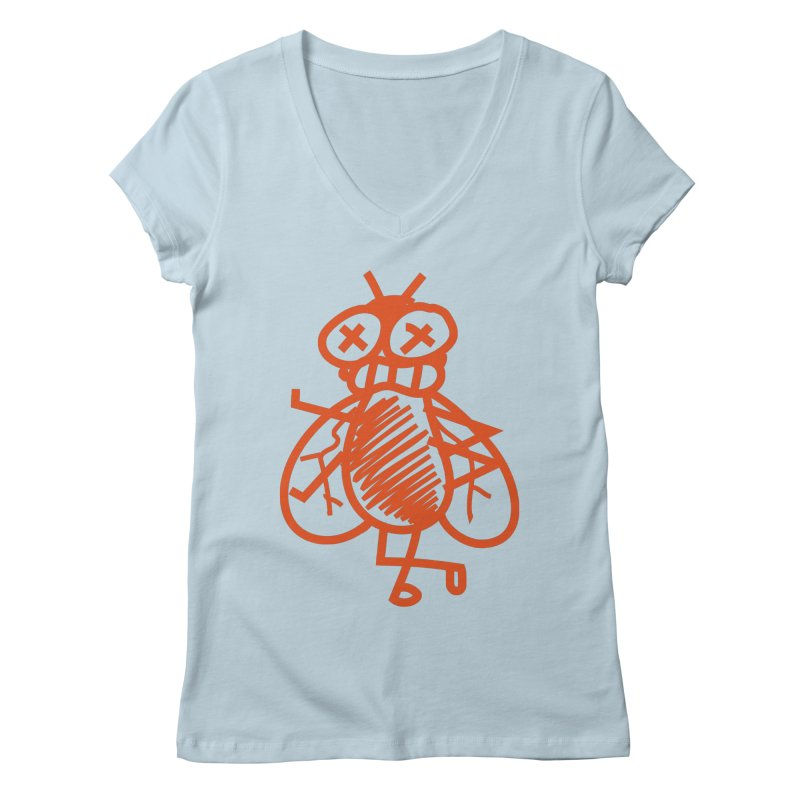 The Fly Women's Regular V-Neck by libedlulo