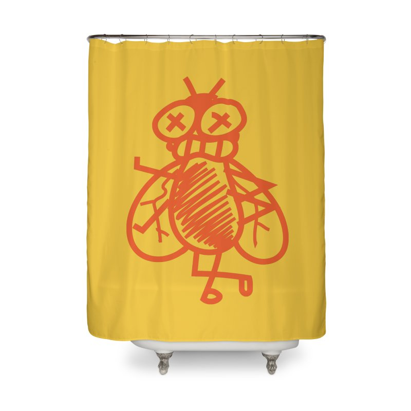 The Fly Home Shower Curtain by libedlulo