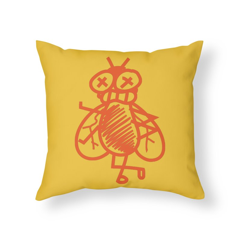 The Fly Home Throw Pillow by libedlulo
