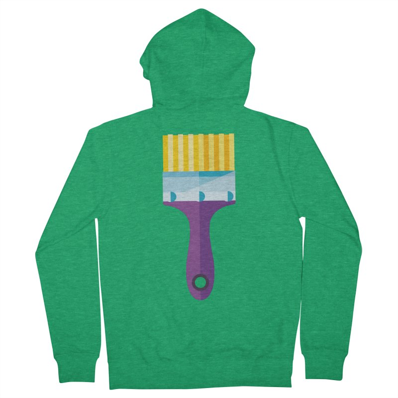 Brush Men's French Terry Zip-Up Hoody by libedlulo