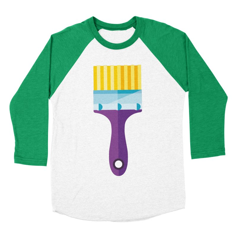 Brush Men's Baseball Triblend Longsleeve T-Shirt by libedlulo