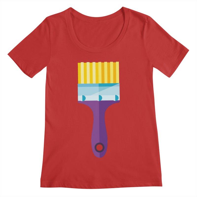 Brush Women's Regular Scoop Neck by libedlulo