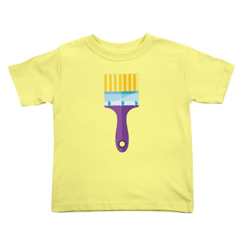 Brush Kids Toddler T-Shirt by libedlulo