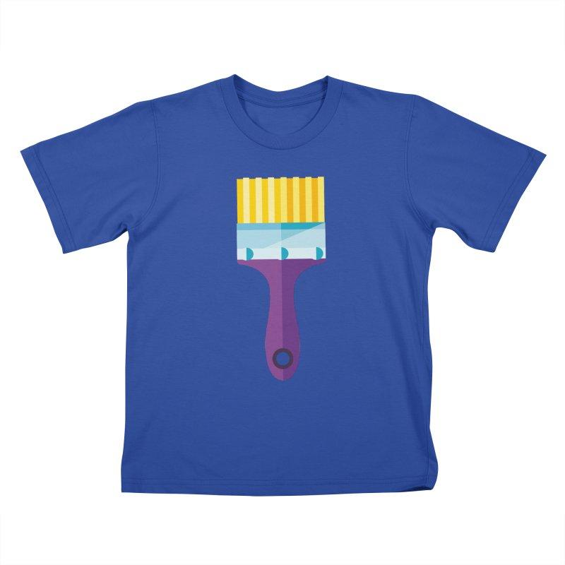 Brush Kids T-Shirt by libedlulo