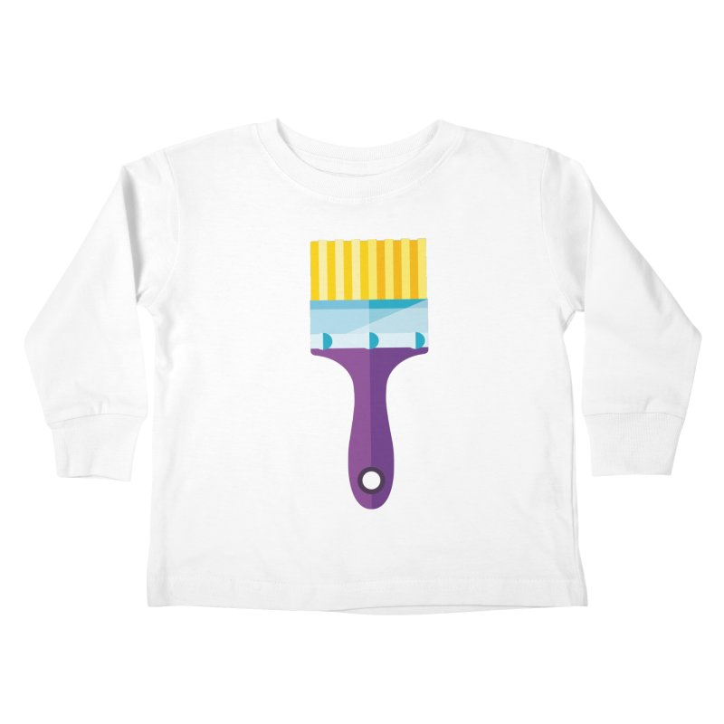 Brush Kids Toddler Longsleeve T-Shirt by libedlulo