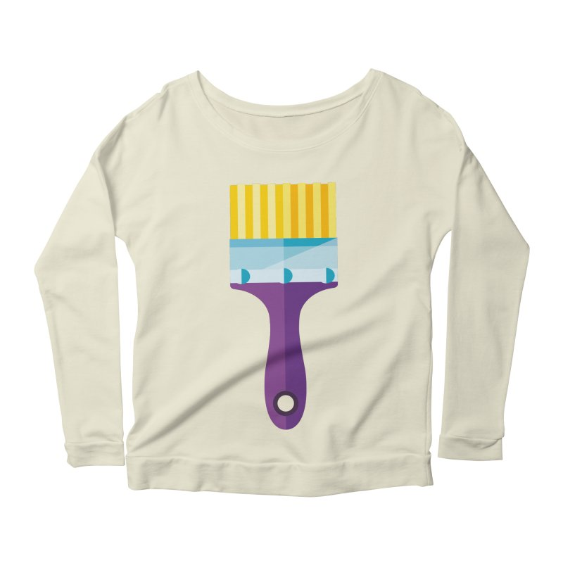 Brush Women's Scoop Neck Longsleeve T-Shirt by libedlulo