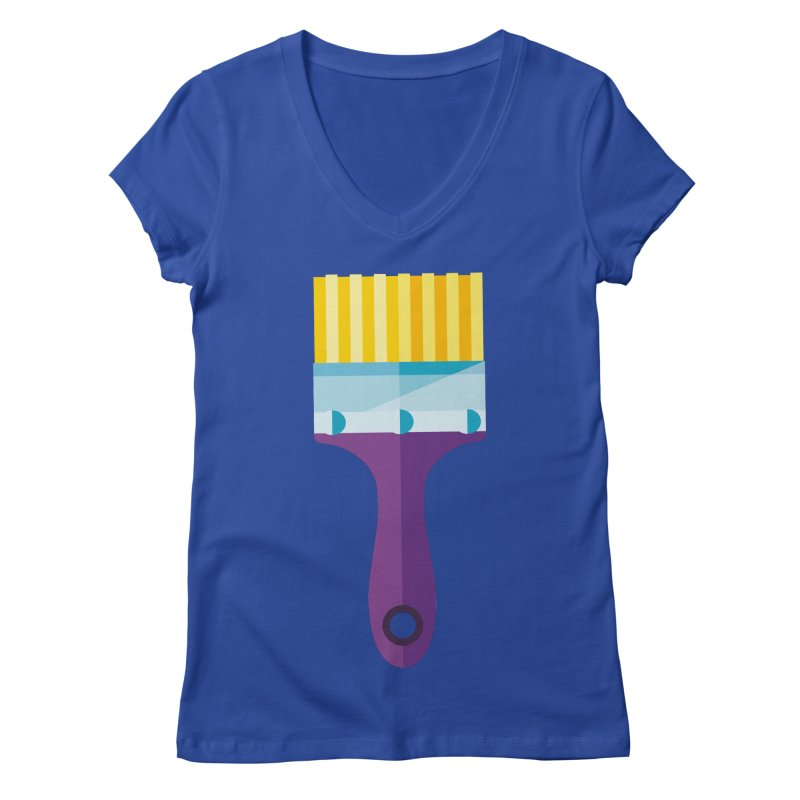 Brush Women's Regular V-Neck by libedlulo