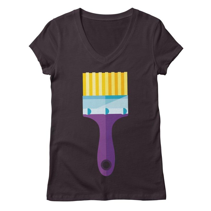 Brush Women's Regular V-Neck by libedlulo