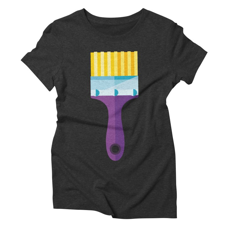 Brush Women's Triblend T-Shirt by libedlulo