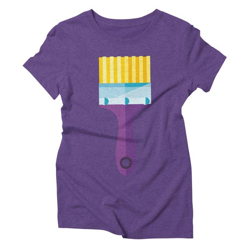Brush Women's Triblend T-Shirt by libedlulo