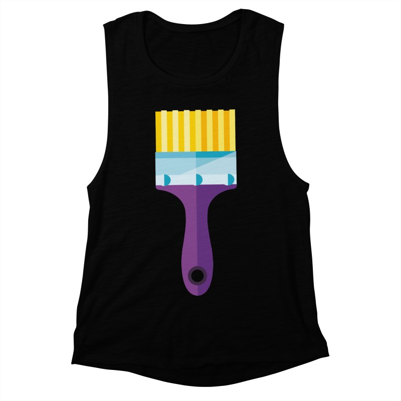 Brush Women's Muscle Tank by libedlulo