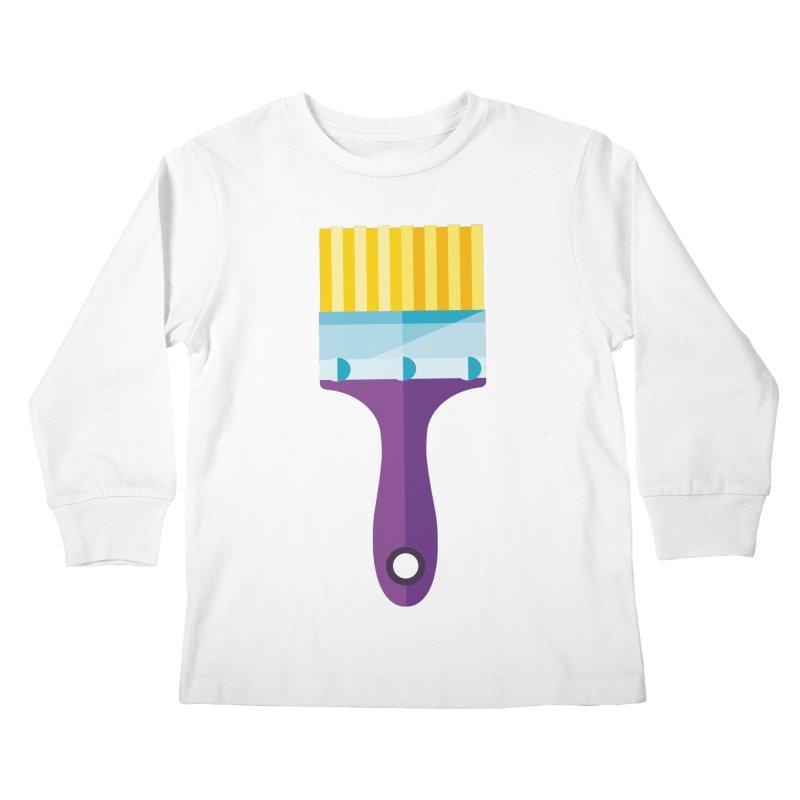 Brush Kids Longsleeve T-Shirt by libedlulo